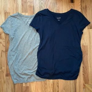 Pair of Isabel Maternity Tees, Sz L